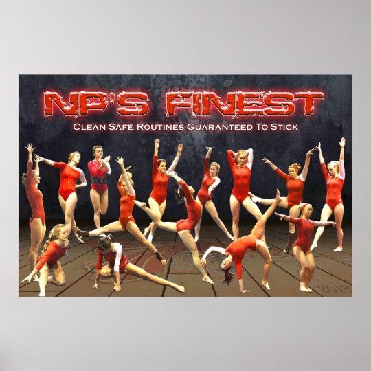 2013 New Palestine Gymnastics Poster