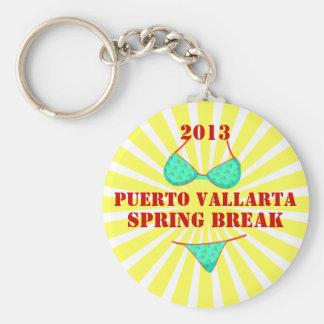 2013 Puerto Vallarta Spring Break Souvenir Basic Round Button Key Ring