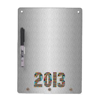 2013 Silver Chrome Sparkle Base Dry Erase White Board