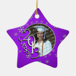 2013 Star Graduate Photo Double-Sided Star Ceramic Christmas Ornament