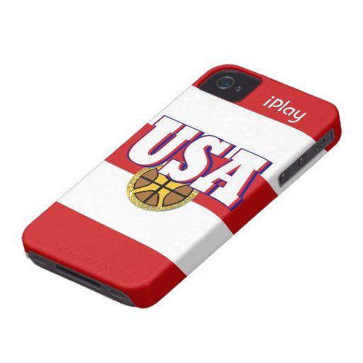 2013 USA Sport Basketball Fan Red iPhone Case Gift iPhone 4 Case-Mate Cases