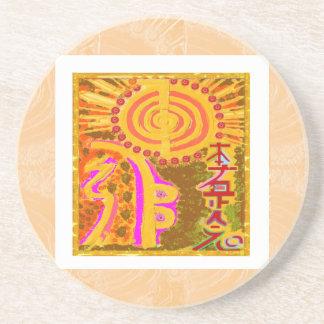 2013 ver. REIKI Healing Symbols Sandstone Coaster
