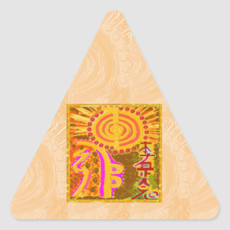 2013 ver. REIKI Healing Symbols Triangle Sticker
