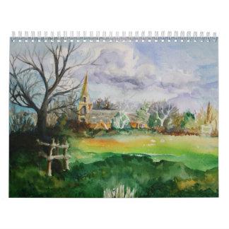 2013 Watercolor Calendar