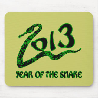 2013 Year of the Snake with Green Snake Mouse Pad