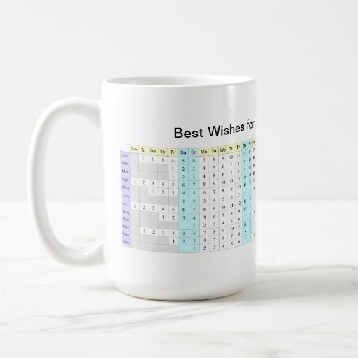 2013 Yearly Calendar Mug