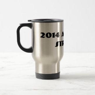 2014 America Strong Tall Coffee Mug with Lid.