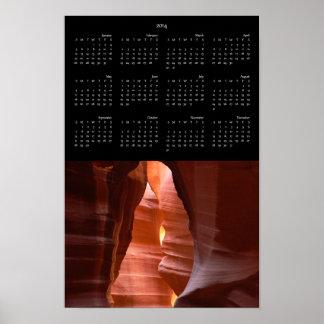 2014 Antelope Canyon Calendar Poster