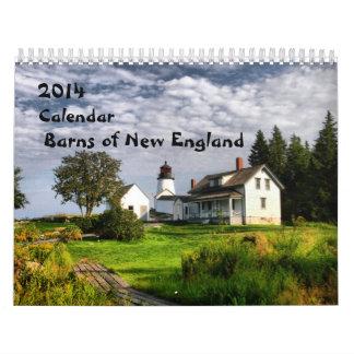 2014 Barns of New England-1 Wall Calendars