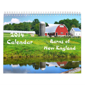 2014 Barns of New England - 2 Wall Calendar