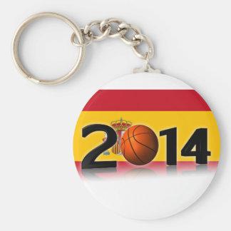 2014 Basketball World Championship Basic Round Button Key Ring