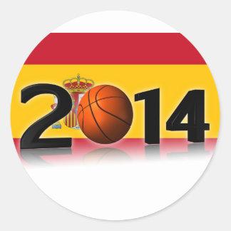 2014 Basketball World Championship Round Sticker