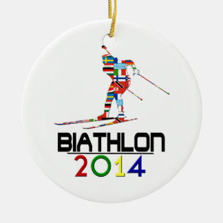 2014: Biathlon Round Ceramic Decoration