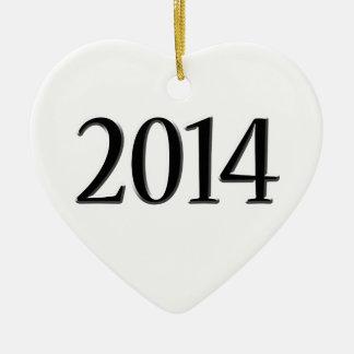 2014 Black 3D Graduation Ornaments
