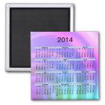2014 Calendar Abstract Rainbow Magnet