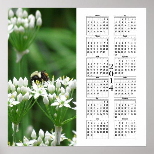2014 Calendar - Bumble Bee Poster