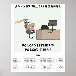 2014 Calendar Computer Error Poster