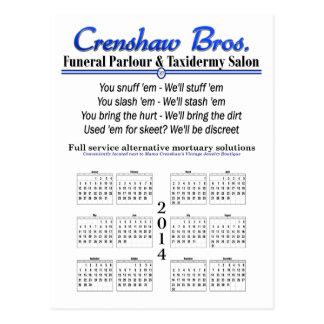 2014 Calendar - Crenshaw s Jingle Post Card