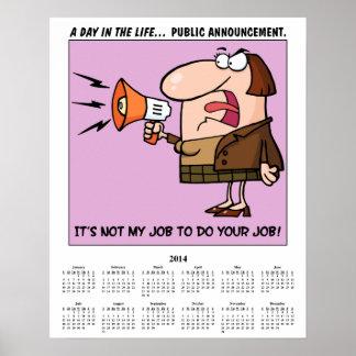 2014 Calendar Job Duties Posters