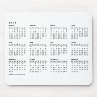 2014 calendar Mouse Pad
