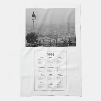 2014 Calendar Paris Kitchen Towel