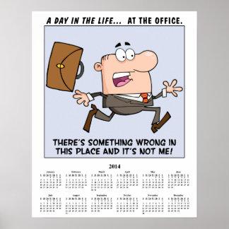 2014 Calendar Running Employee Poster