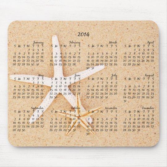 2014 Calendar - Starfish Mousepad