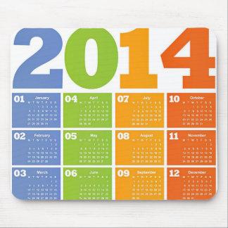 2014 Calender Mouse Mat