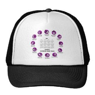 2014 Chinese Zodiac Happy Chinese New Year Clndr Mesh Hat