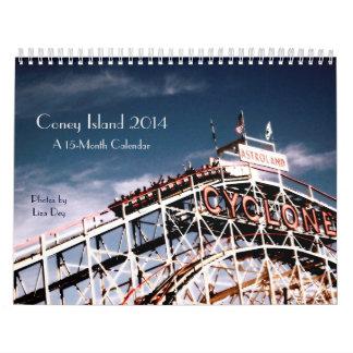 2014 Coney Island 15-Month Calendar