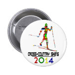 2014: Cross-Country Skiing Pinback Buttons
