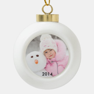 2014 Custom Photo Ceramic Ball Ornament