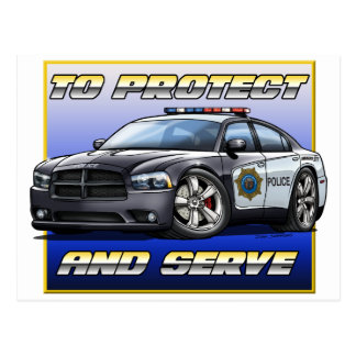 2014 Dodge Charger Police Car 1 Postcards