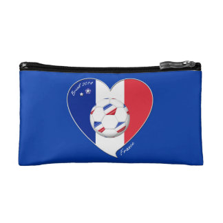 2014 Flag of France SOCCER champion of the world Cosmetic Bags