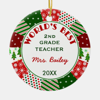 2014 For Favorite Teacher Customized Christmas Ornaments
