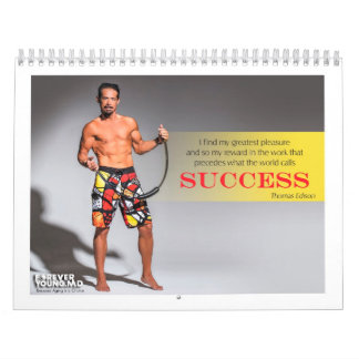 """2014 """"Forever Young"""" Fitness Wall Calendar"""