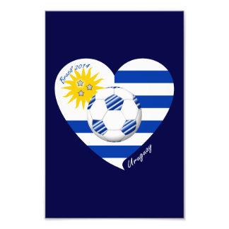 2014 FÚTBOL URUGUAY bandera sol de mayo y balón Impresiones Fotograficas