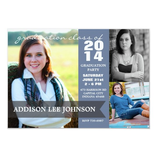 2014 Graduation Party - Classy Banner Collage Card