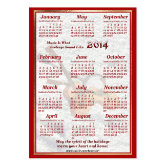 2014 Guitar and Banjo Let Music Fill Air Calendar Business Card