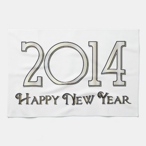 2014 Happy New Year Kitchen Towels