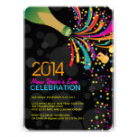 2014 Hip Customizable New Years Party Invitation
