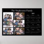 2014 Horizontal Custom Photo Collage Calendar Posters