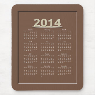 2014 Milk Chocolate Candy Calendar Mouse Pad