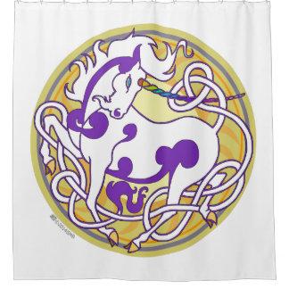 2014 Mink Nest Shower Curtain - Purple/Yellow