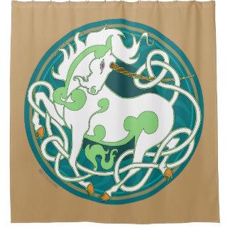 2014 Mink Nest Unicorn Shower Curtain - Dusty Gold