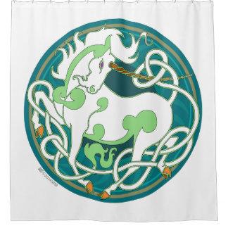 2014 Mink Nest Unicorn Shower Curtain - GreenWhite