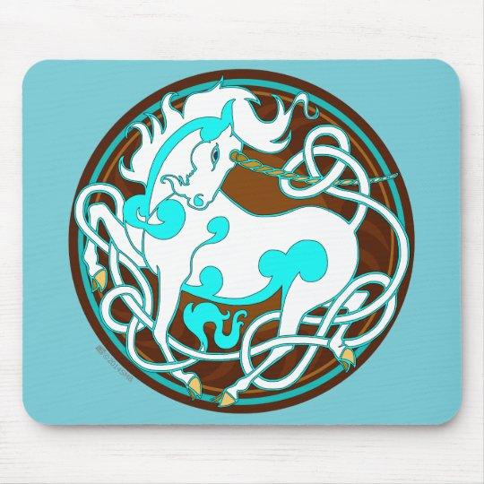 2014 Mink Office: Unicorn Mouspad - White/Turquois Mouse Mat