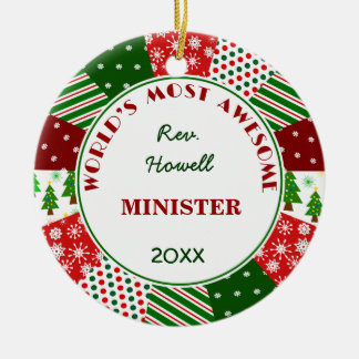 2014 Most Awesome Minister or Alternate Name Christmas Tree Ornaments