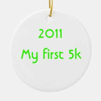 2014 My First 5k Round Ceramic Decoration
