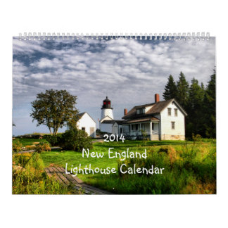 2014 New England Lighthouse Calendar Super size